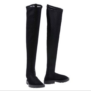 New Women's black over the knee boots Cheap Monday